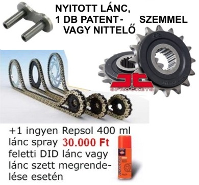 Lánc szett Ducati 939 Hypermotard 16-18 DID Japan VX3 steel RB