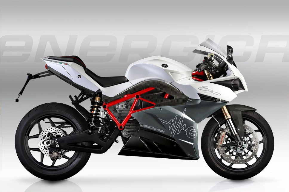 Energica Ego Electric Superbike White Grey